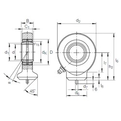 12 mm x 22 mm x 10 mm  12 mm x 22 mm x 10 mm  INA GK 12 DO INA Bearing
