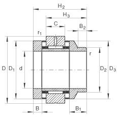 25 mm x 57 mm x 10 mm  25 mm x 57 mm x 10 mm  INA ZARN2557-L-TV INA Bearing