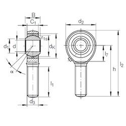 5 mm x 13 mm x 8 mm  5 mm x 13 mm x 8 mm  INA GAKL 5 PB INA Bearing