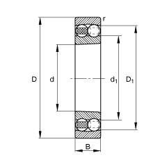 95 mm x 170 mm x 43 mm  95 mm x 170 mm x 43 mm  FAG 2219-K-M-C3 FAG Bearing