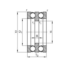 25 mm x 60 mm x 9 mm  25 mm x 60 mm x 9 mm  FAG 52306 FAG Bearing