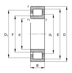 75 mm x 160 mm x 37 mm  75 mm x 160 mm x 37 mm  FAG NJ315-E-TVP2 FAG Bearing