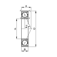 70 mm x 100 mm x 16 mm  70 mm x 100 mm x 16 mm  FAG B71914-E-T-P4S FAG Bearing