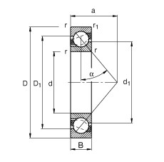 85 mm x 180 mm x 41 mm  85 mm x 180 mm x 41 mm  FAG 7317-B-JP FAG Bearing