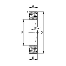 12 mm x 28 mm x 8 mm  12 mm x 28 mm x 8 mm  FAG HSS7001-C-T-P4S FAG Bearing