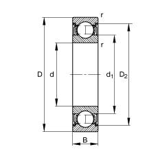 9 mm x 24 mm x 7 mm  9 mm x 24 mm x 7 mm  FAG 609-2Z FAG Bearing