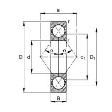 55 mm x 100 mm x 21 mm  55 mm x 100 mm x 21 mm  FAG QJ211-TVP FAG Bearing