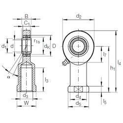 40 mm x 62 mm x 28 mm  40 mm x 62 mm x 28 mm  INA GIR 40 DO-2RS INA Bearing
