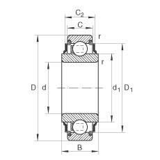 45 mm x 85 mm x 30 mm  45 mm x 85 mm x 30 mm  INA 209-KRR INA Bearing