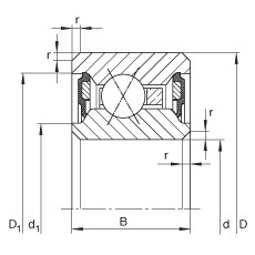 7 1/2 inch x 209,55 mm x 12,7 mm  7 1/2 inch x 209,55 mm x 12,7 mm  INA CSXU075-2RS INA Bearing