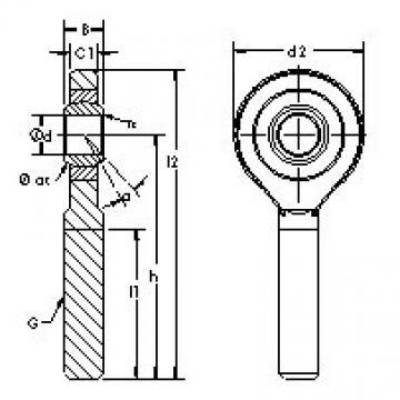 AST SA40ET-2RS AST Bearing