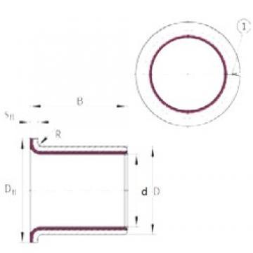 40 mm x 44 mm x 26 mm  40 mm x 44 mm x 26 mm  INA EGF40260-E40 INA Bearing