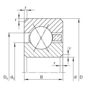 6 inch x 171,45 mm x 9,525 mm  6 inch x 171,45 mm x 9,525 mm  INA CSXC060 INA Bearing