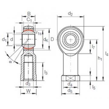 6 mm x 16 mm x 9 mm  6 mm x 16 mm x 9 mm  INA GIKL 6 PW INA Bearing