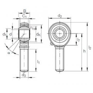 10 mm x 22 mm x 14 mm  10 mm x 22 mm x 14 mm  INA GAKFL 10 PB INA Bearing