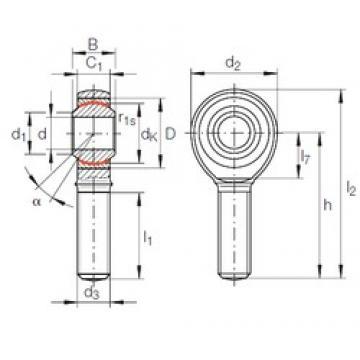 16 mm x 32 mm x 21 mm  16 mm x 32 mm x 21 mm  INA GAKFL 16 PW INA Bearing