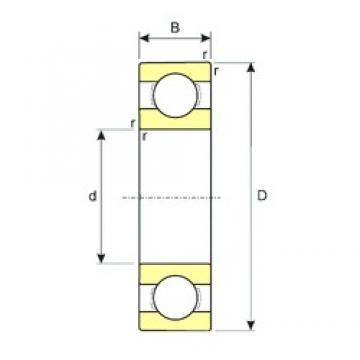 200 mm x 250 mm x 24 mm  200 mm x 250 mm x 24 mm  ISB 61840 ISB Bearing