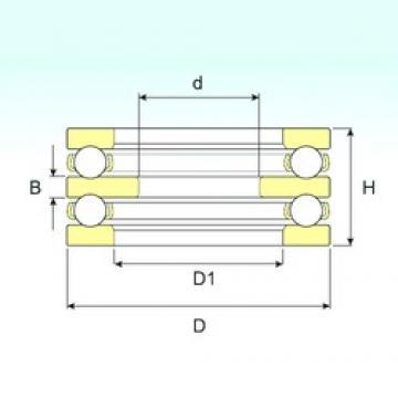 50 mm x 95 mm x 10 mm  50 mm x 95 mm x 10 mm  ISB 52212 ISB Bearing