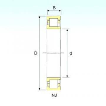 50 mm x 110 mm x 40 mm  50 mm x 110 mm x 40 mm  ISB NJ 2310 ISB Bearing