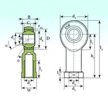 12 mm x 26 mm x 16 mm  12 mm x 26 mm x 16 mm  ISB TSF 12 C ISB Bearing