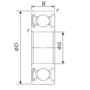 19,05 mm x 50,8 mm x 14,288 mm  19,05 mm x 50,8 mm x 14,288 mm  CYSD 1638-RS CYSD Bearing