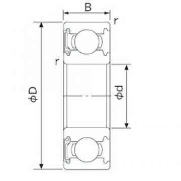 60 mm x 95 mm x 18 mm  60 mm x 95 mm x 18 mm  CYSD 6012-RS CYSD Bearing