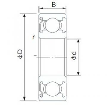 105 mm x 145 mm x 20 mm  105 mm x 145 mm x 20 mm  CYSD 6921-Z CYSD Bearing