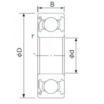 15,875 mm x 41,275 mm x 12,7 mm  15,875 mm x 41,275 mm x 12,7 mm  CYSD 1628-Z CYSD Bearing