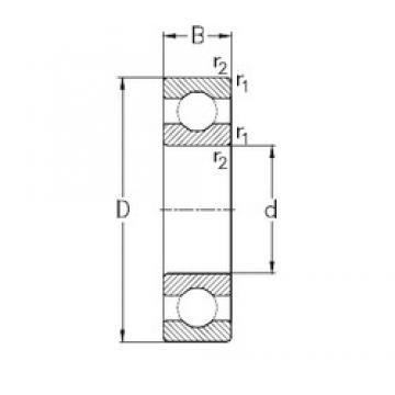 320 mm x 440 mm x 56 mm  320 mm x 440 mm x 56 mm  NKE 61964-MA NKE Bearing