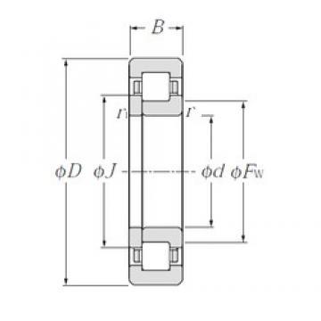 90 mm x 190 mm x 64 mm  90 mm x 190 mm x 64 mm  CYSD NUP2318 CYSD Bearing