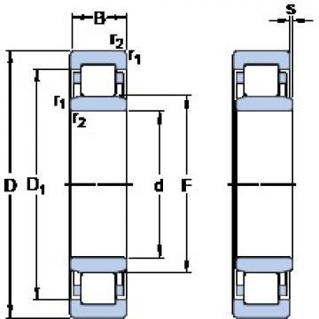 440 mm x 720 mm x 226 mm  440 mm x 720 mm x 226 mm  SKF NU 3188 ECMA/HB1 SKF Bearing