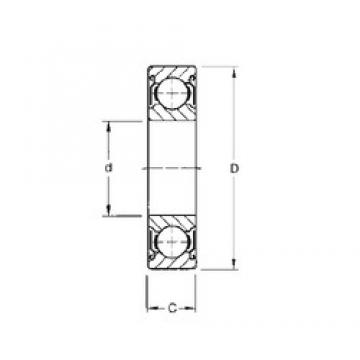 19,05 mm x 50,8 mm x 14,288 mm  19,05 mm x 50,8 mm x 14,288 mm  CYSD 1638-ZZ CYSD Bearing
