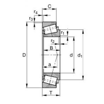17 mm x 47 mm x 14 mm  17 mm x 47 mm x 14 mm  FAG 30303-A FAG Bearing