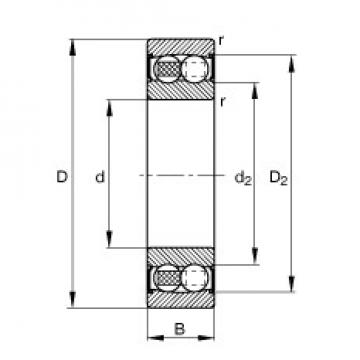 55 mm x 100 mm x 25 mm  55 mm x 100 mm x 25 mm  FAG 2211-2RS-TVH FAG Bearing