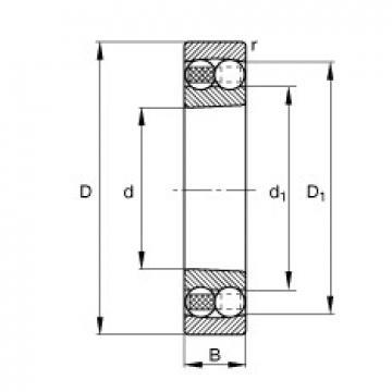 100 mm x 215 mm x 73 mm  100 mm x 215 mm x 73 mm  FAG 2320-K-M-C3 FAG Bearing