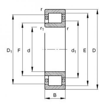 90 mm x 160 mm x 30 mm  90 mm x 160 mm x 30 mm  FAG NJ218-E-TVP2 FAG Bearing