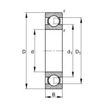100 mm x 125 mm x 13 mm  100 mm x 125 mm x 13 mm  FAG 61820-Y FAG Bearing
