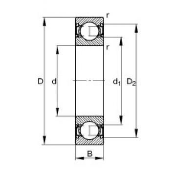 60 mm x 78 mm x 10 mm  60 mm x 78 mm x 10 mm  FAG 61812-2RSR-Y FAG Bearing