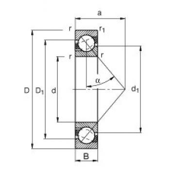 60 mm x 110 mm x 22 mm  60 mm x 110 mm x 22 mm  FAG 7212-B-TVP FAG Bearing