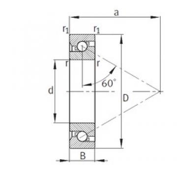 40 mm x 90 mm x 23 mm  40 mm x 90 mm x 23 mm  FAG 7603040-TVP FAG Bearing