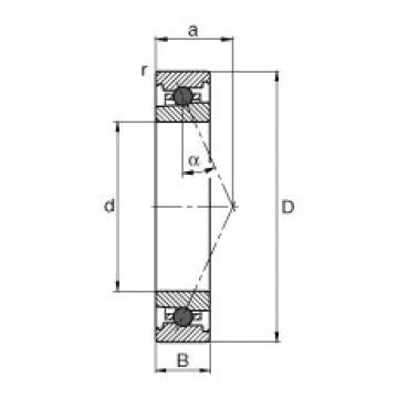 40 mm x 68 mm x 15 mm  40 mm x 68 mm x 15 mm  FAG HC7008-E-T-P4S FAG Bearing