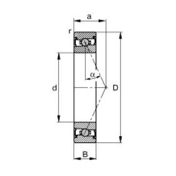 25 mm x 47 mm x 12 mm  25 mm x 47 mm x 12 mm  FAG HCS7005-E-T-P4S FAG Bearing