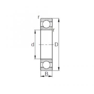 105 mm x 190 mm x 36 mm  105 mm x 190 mm x 36 mm  CYSD 6221 CYSD Bearing