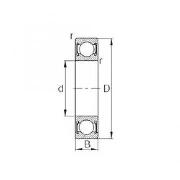 40 mm x 62 mm x 12 mm  40 mm x 62 mm x 12 mm  CYSD 6908-2RS CYSD Bearing