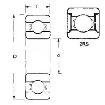 60 mm x 95 mm x 11 mm  60 mm x 95 mm x 11 mm  FBJ 16012-2RS FBJ Bearing