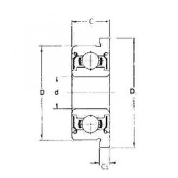 7,938 mm x 12,7 mm x 3,967 mm  7,938 mm x 12,7 mm x 3,967 mm  FBJ FR1810ZZ FBJ Bearing