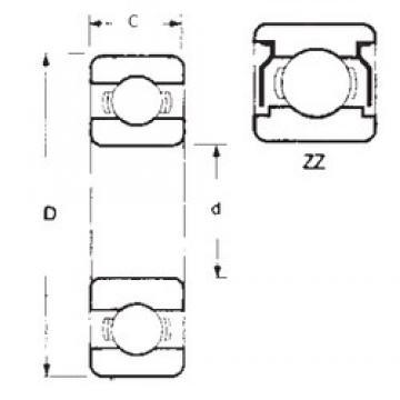 60 mm x 95 mm x 11 mm  60 mm x 95 mm x 11 mm  FBJ 16012ZZ FBJ Bearing