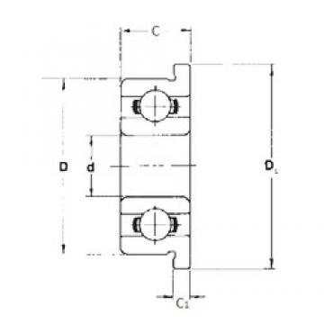 7 mm x 22 mm x 7 mm  7 mm x 22 mm x 7 mm  FBJ F627 FBJ Bearing