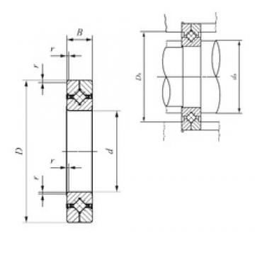 70 mm x 100 mm x 13 mm  70 mm x 100 mm x 13 mm  IKO CRBC 7013 UU IKO Bearing