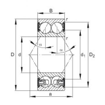 55 mm x 120 mm x 49,2 mm  55 mm x 120 mm x 49,2 mm  FAG 3311-BD-2HRS-TVH FAG Bearing